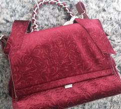 Bordo plisana torba