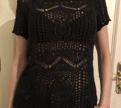 H&M crna pletena majica