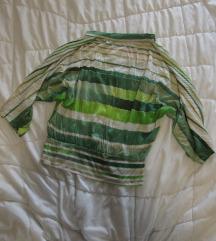 31. Majica sa miš rukavima, zeleno bele pruge