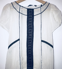 Zara bela majica kosulja bez rukava