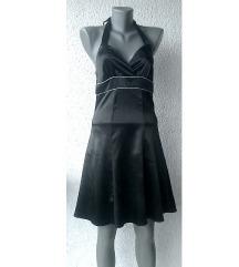 crna svečana haljina vezivanje vrat broj S