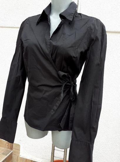 Wrap crna košulja
