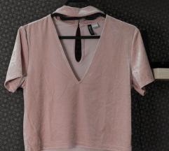 NOVO!! H&M roze suede crop top