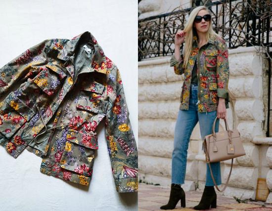 H&M cvetna jakna-NOVO