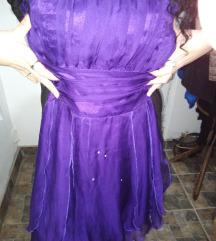 Ljubicasta haljinica, saten,til