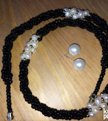 Crni biseri NOVA ogrlica