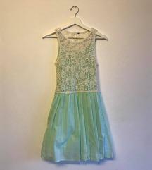 ZARA pamučna haljina sa čipkom