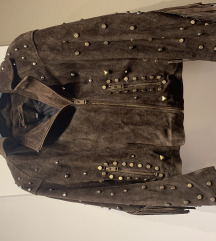 KOŽA prevrnuta zara jakna