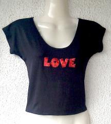 crna majica LOVE broj S