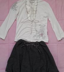 Suknjica i bluza za 5-6 godina
