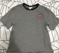 Majica na pruge- crno bela H&M