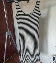 prugasta crno bela haljinica M/L