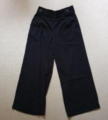 Zara wide leg crne pantalone