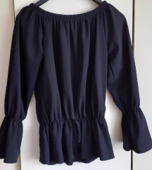 Crna offshoulders bluza