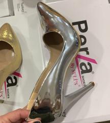 Nove cipele sa kutijom silver br.36 SNIZENO 1000