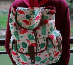 Prelepa flamingo skolska torba - ranac - NOV!