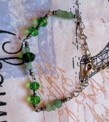 Zelena narukvica sa poludragim kamenjem NOVO