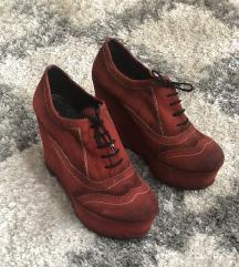 Kozne cipele s platformom, kao nove