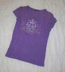 175. Ljubičasta majica kratkih rukava sa cirkonima