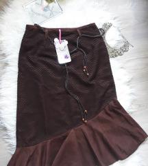 Nova braon suknja sa etiketom