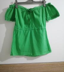 Zelena majica spustenih ramena