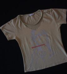 Maslinasta majica  sa chokerom