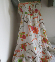 Cvetna sa perlicama haljina S