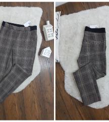 H&M * XS * karirane pantalone NOVO