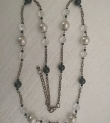 ogrlica - lančić sa bisrčićima i perlama