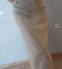 Nude maxi suknja
