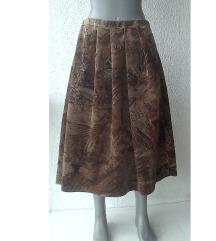 suknja puniji pliš za jesen i zimu broj 50