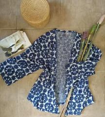 H&M plavo beli kardigan