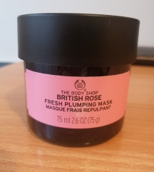 The Body Shop British Rose fresh plumping maska