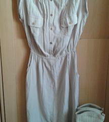 sniženo!❤️NEW LOOK Bež viskozna haljinica s/m♥