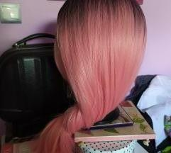 Ombre pink kanekalon perika