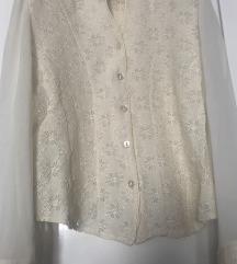 Elegantna vintage bluza sa cipkom