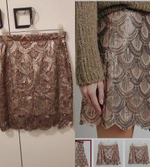 Svetlucava suknja xs