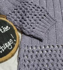 Končani ljubičasto-srebrni džemperic
