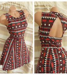 H&M ✱ aztec haljina otvorenih leđa ✱ NOVO