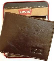 Levi's® Travel Men's Brown Genuine Leather