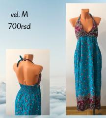 Plava duga haljina