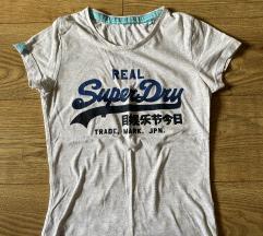 Siva zenska superdry majica kratkih rukava