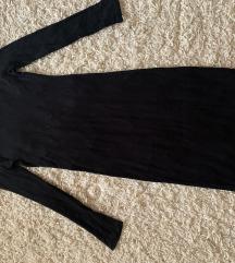 Univerzalna crna haljina - rebrasti 🖤
