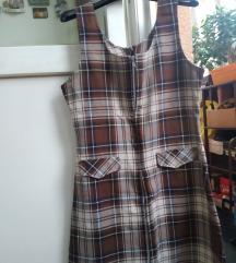 Karirana jesenja haljina M Rasprodaja
