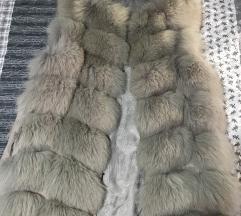 Prsluk prirodno krzno polarna lisica