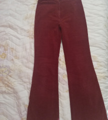 Bordo duboke zvonaste pantalone
