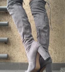 Sive zimske čizme
