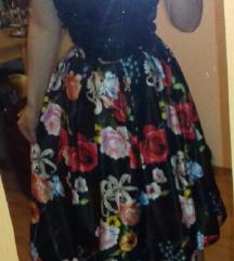 DAMSKA cvetna suknja..elegantna duza
