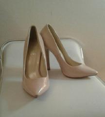 Ohla-la. Nude roze lakovane cipele. NOVO