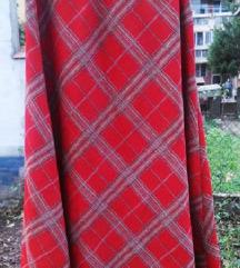 Duga zvonasta karo suknja od debljeg zersea